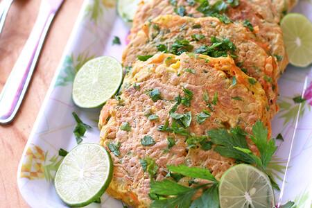 Tortitas de zanahoria y calabacita. Receta