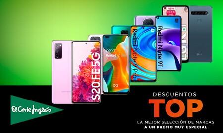 Ofertas Top en El Corte Inglés: 18 smartphones de Apple, Xiaomi, LG, OPPO o Samsung con descuentos de hasta un 44%
