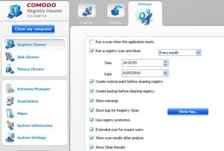 Comodo System-Cleaner Programación