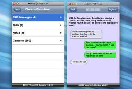 MobileSync Browser: Navega por los contenidos del backup de tu iPhone