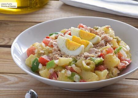 Ensalada campera. Receta fácil y saludable ideal para la cena