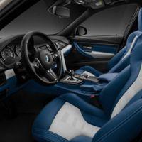 Hola, quería un BMW M3 con interior azul y plata. Me gusta ser discreto
