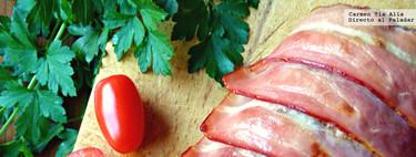 Rollo de carne relleno de jamón y queso. Receta familiar