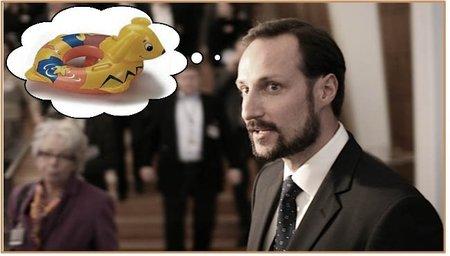 El príncipe Haakon: ¡hombre al agua!