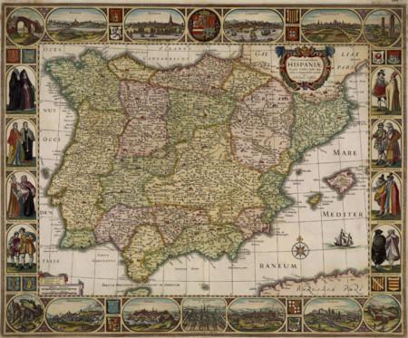 Resultado de imagen de mapa antiguo españa
