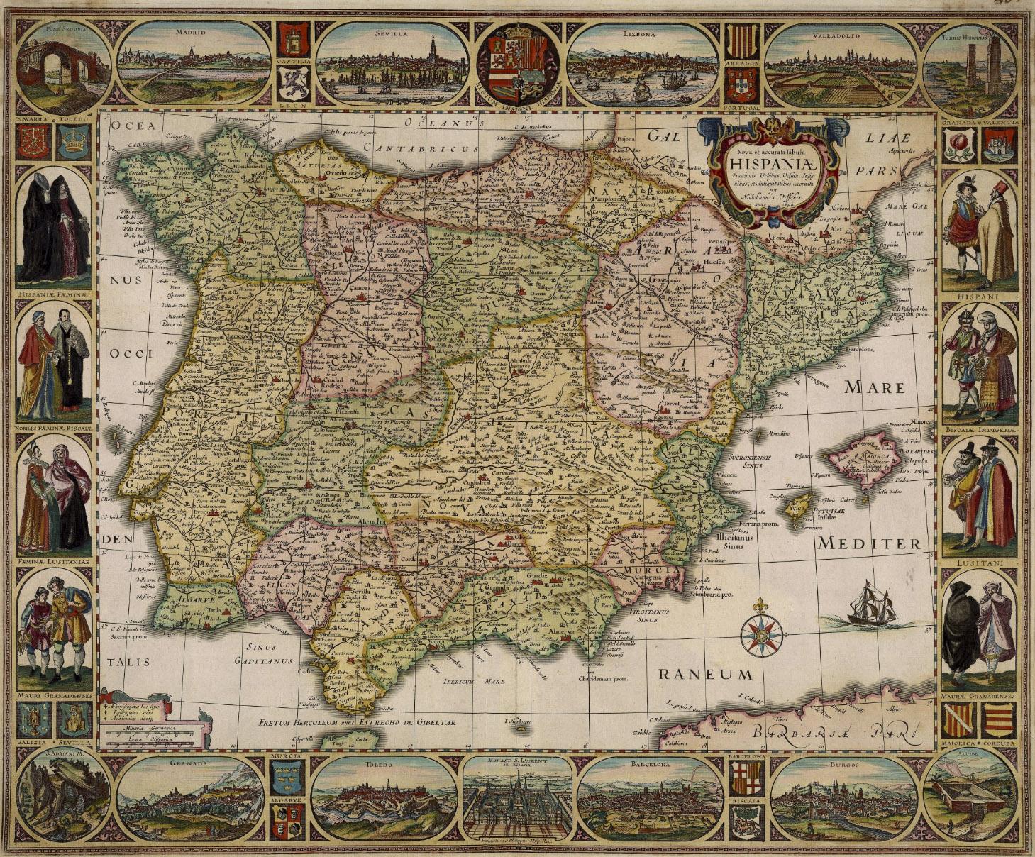 17 preciosos mapas antiguos de espa a con los que viajar for Mapa del mundo decoracion