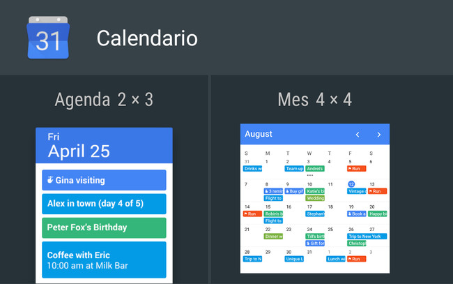 Calendario Widget Mes