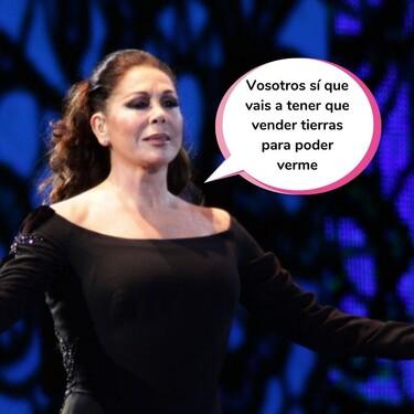 Así es la vuelta al escenario de Isabel Pantoja: 3 fechas confirmadas y precios por las nubes