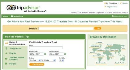 TripAdvisor prueba un diseño a lo 2.0
