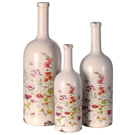 Mimub Com Jarron Flores Ceramica Blanco D15x48 5 Pvp 21eur