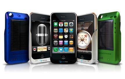 Fundas con cargador solar para iPhone y iPod