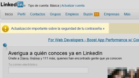 LinkedIn ha inhabilitado las contraseñas expuestas