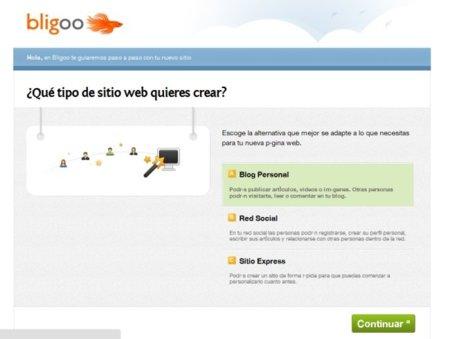 crear Blog, red social o página web en Bligoo