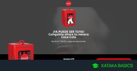 Cuidado, el regalo de la nevera del oso polar de Coca-Cola es una campaña de engaño para robar tus datos