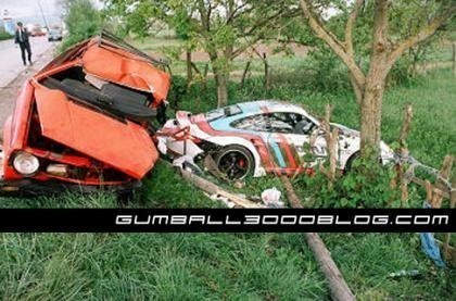 Accidente mortal en la Gumball 3000