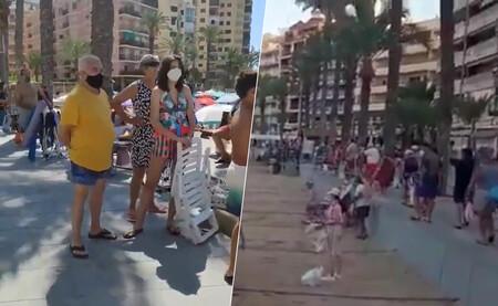 Colas y carreras para acceder a una parcelita de playa: el estrés de veranear en Torrevieja