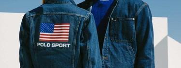 Ralph Lauren actualiza su línea Polo Sport con denim y destellos metálicos para la temporada