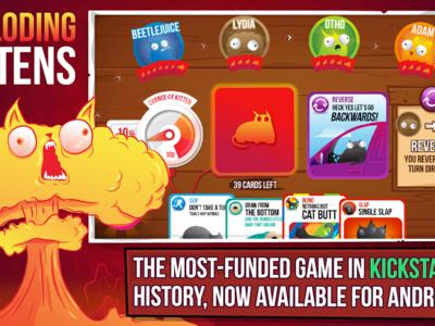 Exploding Kittens llega a Android, el exitoso juego de cartas que arrasó en Kickstarter