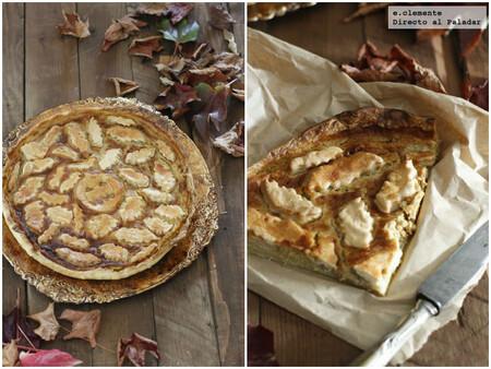 Receta de tarta rústica de calabaza y murciélagos para Halloween o meriendas de otoño