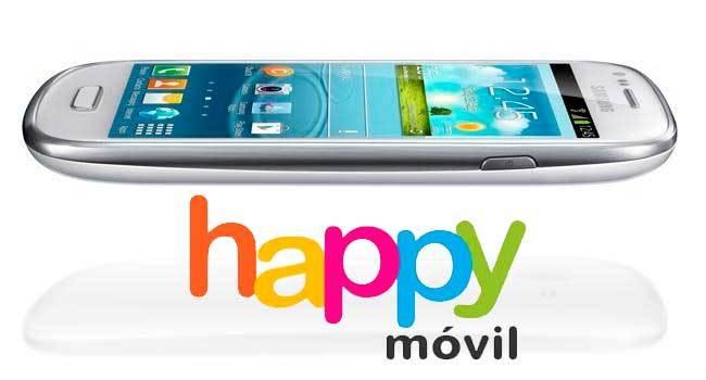 Precios Samsung Galaxy SIII Mini con Happy Móvil