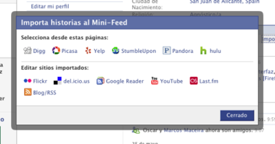 Facebook hacia el lifestream social
