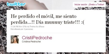 Cristina Pedroche se queda sin su iphone blanco