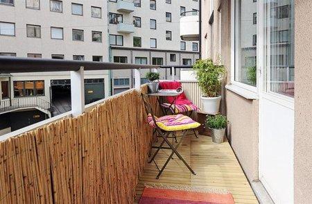Otra vista de un balcón bien aprovechado