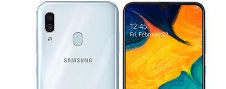 Samsung Galaxy A30: el pequeño de la gama media llega con notch y cámara dual