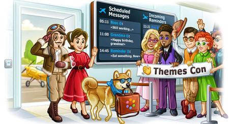 Telegram 5.11 te permite programar mensajes, tiene un editor de temas más sencillo y otras novedades