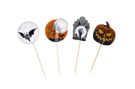 Halloween Graveyard Gathering Cupcake Picks Singles