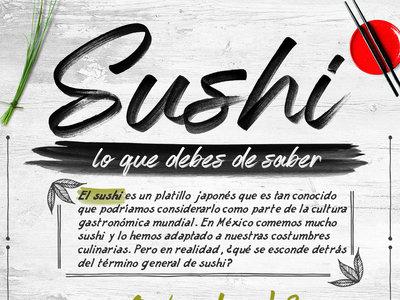El sushi. Lo que tienes que saber. Infografia