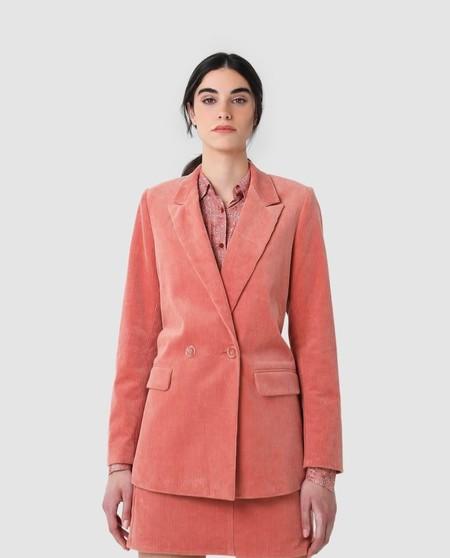 Blazer de mujer Scalpers de algodón rosa