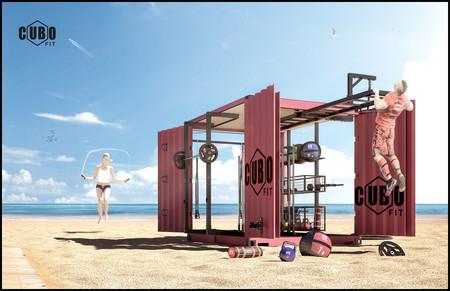 Cubo Fit: un gimnasio portátil que te permite seguir entrenando en la playa