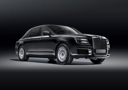 Este 'Rolls-Royce' ruso se llama Aurus Senat y es la versión civil de la limusina de Putin