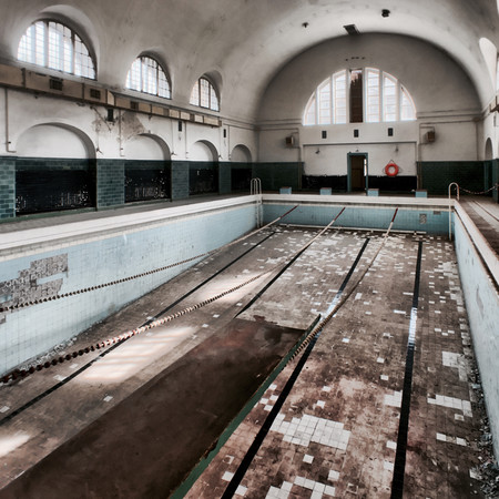 Abandoned Swimming Pool House Of Officers Wunsdorf Germany