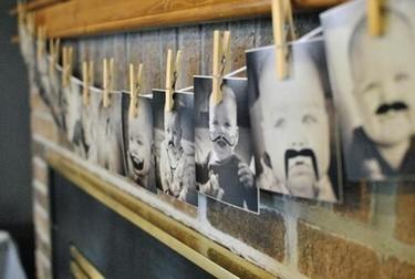 Decora la fiesta del primer cumpleaños con fotos del bebé con bigotes