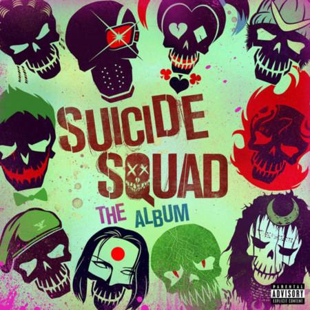 La portada de la banda sonora de Suicide Squad