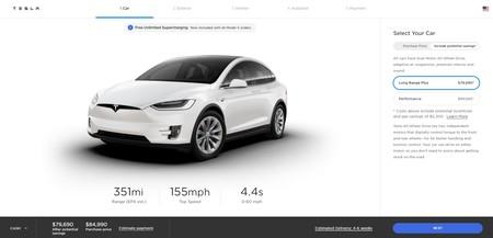 Tesla Model X Configurador 351 Millas Autonomia