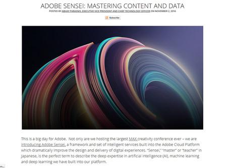 Adobe Max 2016 Sensei