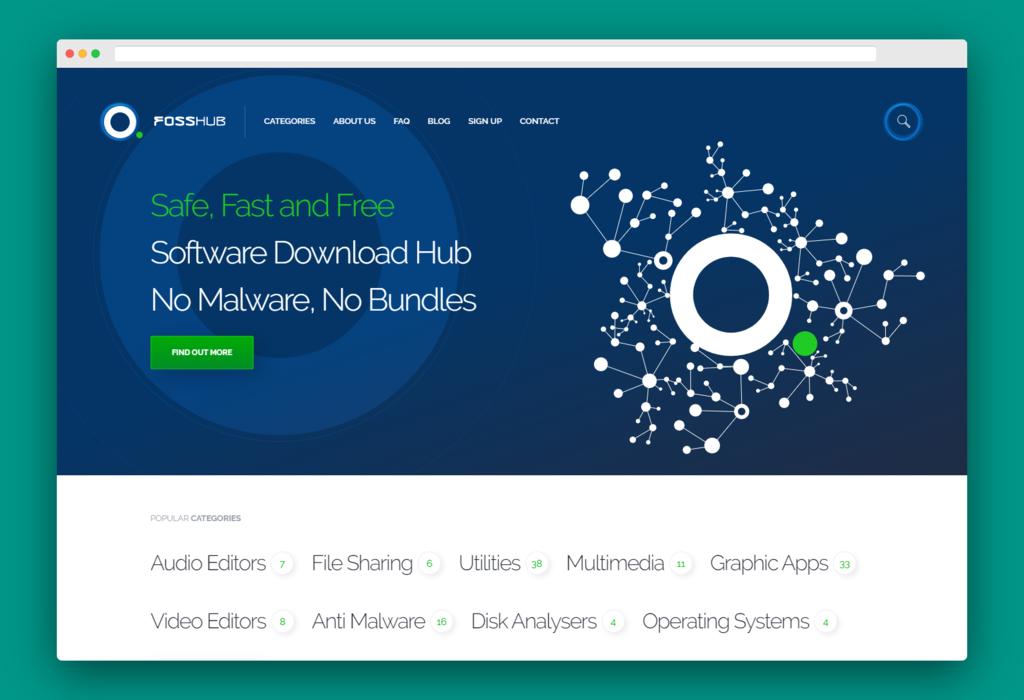 FossHub: una de las mejores webs para descargar software open source gratis, fácil y de forma segura
