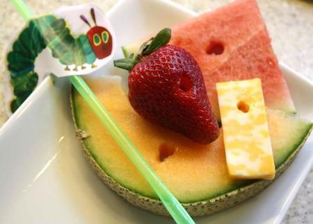 merienda fruta niños