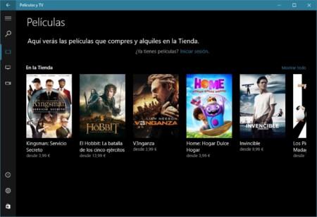 La aplicación Películas y TV de Windows 10 ya soporta el modo visual oscuro