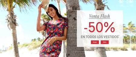 Venta flash en La Redoute: 50% de descuento en todos los vestidos de mujer y niña hasta mañana