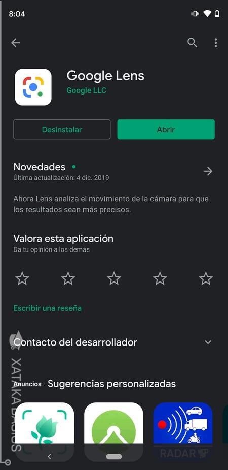Baja Google Lens