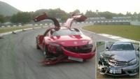 Dolorpasión™: Un Mercedes SLS y un C63 AMG chocan en circuito