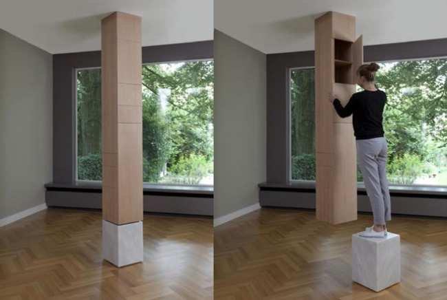 Columnas de almacenaje hasta el techo - Decorar columnas interiores ...