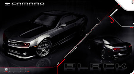 """Chevrolet Camaro """"Black"""", agresividad para el SEMA Show"""