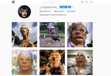 Cindy Sherman, la reina de los selfies de los años 70 y 80, hace pública su cuenta de Instagram