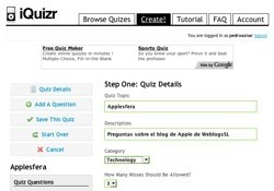 iQuizr: Crea y descarga tests para iQuiz, on-line