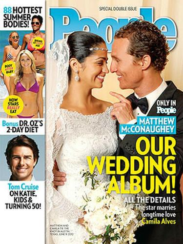¡Pero qué guapos estaban Matthew McConaughey y Camila Alves en su boda!